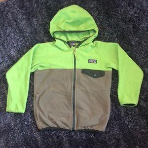 Patagonia Boys 4T Snap T Fleece Full Zip Jacket